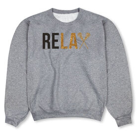 Girls Lacrosse Crew Neck Sweatshirt - Relax