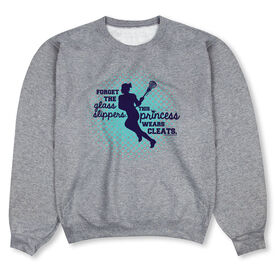Girls Lacrosse Crew Neck Sweatshirt - Forget The Glass Slippers Lacrosse