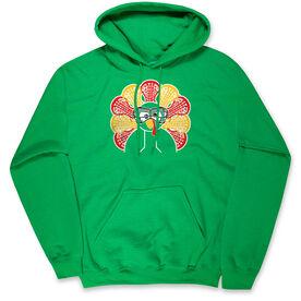 Girls Lacrosse Hooded Sweatshirt - Goofy Turkey Player