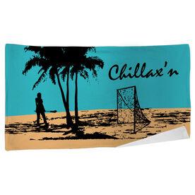 Lacrosse Beach Towel Chillax'n