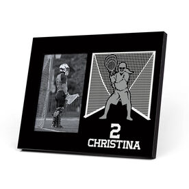 Girls Lacrosse Photo Frame - Goalie Silhouette