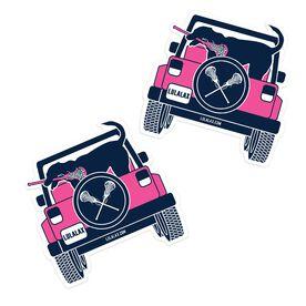 Girls Lacrosse Stickers - Lax Cruiser (Set of 2)