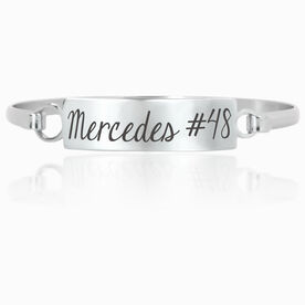 Personalized Engraved Clasp Bracelet Your Name and Number