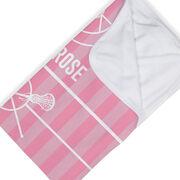Girls Lacrosse Baby Blanket - Field