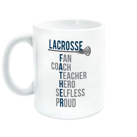 Girls Lacrosse Coffee Mug - Girls Lacrosse Father Words