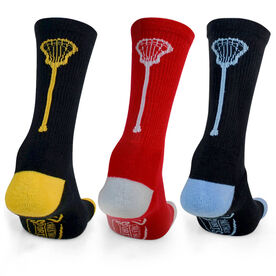 Lacrosse Woven Mid-Calf Sock Set - Single Stick