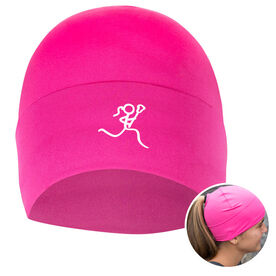 Performance Ponytail Cuff Hat Stick Figure Lax Girl