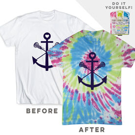 DIY Girls Lacrosse Anchor - White Tee Ready for Tie-Dye