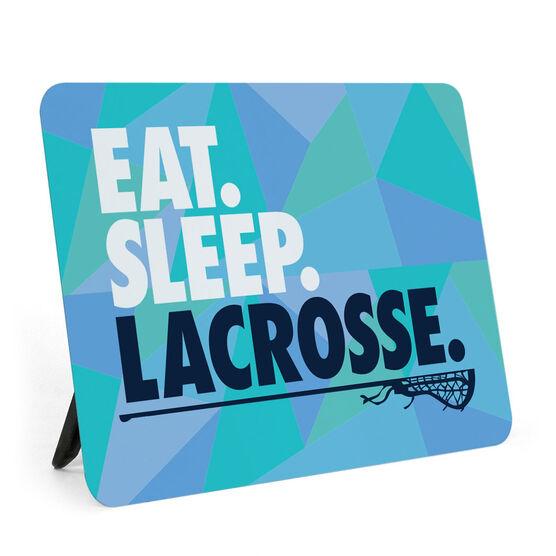 Girls Lacrosse Desk Art - Eat. Sleep. Lacrosse.