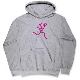 Lacrosse  Standard Sweatshirt Neon Lax Girl