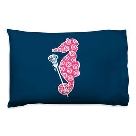 Girls Lacrosse Pillowcase - Seahorse