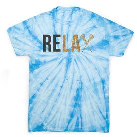 Girls Lacrosse Short Sleeve T-Shirt - Relax Tie Dye