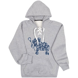 Girls Lacrosse Sport Lace Sweatshirt Lax Elephant