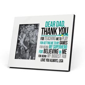 Girls Lacrosse Photo Frame - Dear Dad