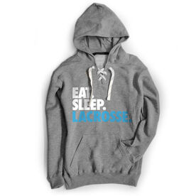 Lacrosse Sport Lace Sweatshirt - Eat. Sleep. Lacrosse.