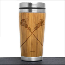 Bamboo Travel Tumbler Lacrosse Girls Crossed Sticks