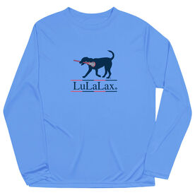 Girls Lacrosse Long Sleeve Performance Tee - LuLaLax Logo