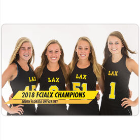 "Girls Lacrosse 18"" X 12"" Aluminum Room Sign - Classic Horizontal Photo"