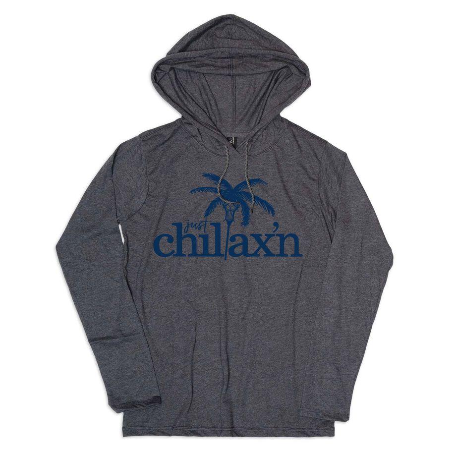 Girls Lacrosse Lightweight Hoodie - Just Chillax'n