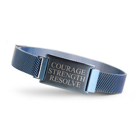 Adjustable Stainless Steel Magnetic Bracelet - Courage Strength Resolve