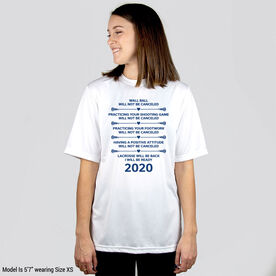 Girls Lacrosse Short Sleeve Performance Tee - Lacrosse Will Be Back 2020 ($5 Donated to the American Red Cross)
