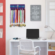 Girls Lacrosse Hooked on Medals Hanger - My Goal Is To Deny Yours