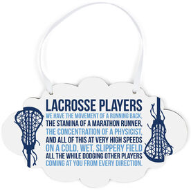 Girls Lacrosse Cloud Sign - Lacrosse Players