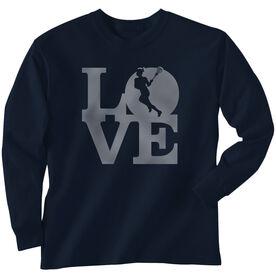 Girls Lacrosse Long Sleeve T-Shirt - Love Lacrosse Girl