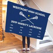 Girls Lacrosse Premium Blanket - Team Roster