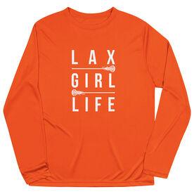 Girls Lacrosse Long Sleeve Performance Tee - Lax Girl Life
