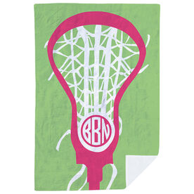 Girls Lacrosse Premium Blanket - Monogrammed Lax Is Life