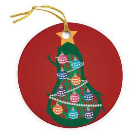Girls Lacrosse Porcelain Ornament Stick Head Christmas Tree