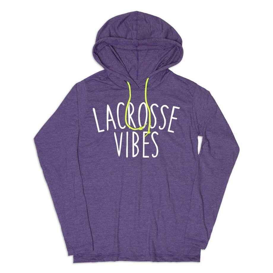 Girls Lacrosse Lightweight Hoodie - Lacrosse Vibes