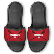 Girls Lacrosse Repwell® Slide Sandals - Personalized Crossed Sticks