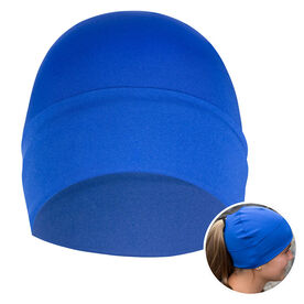 Performance Ponytail Cuff Hat - Blue