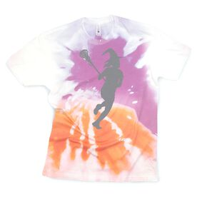 Girls Lacrosse Short Sleeve T-Shirt - Lax Witch Tie-Dye