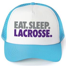 Lacrosse Trucker Hat - Eat Sleep Lacrosse