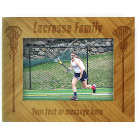 Girls Lacrosse Bamboo Engraved Picture Frame Lacrosse Family