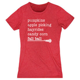 Girls Lacrosse Women's Everyday Tee - Favorite Fall Things