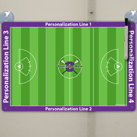 "Lacrosse Custom Dry Erase Coach Board Girls Full Field - 18"" X 12"""