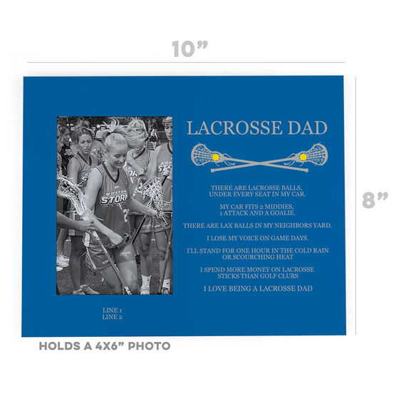 Girls Lacrosse Photo Frame - Lacrosse Dad Poem