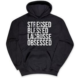 Lacrosse Standard Sweatshirt - Stressed Blessed Lacrosse Obsessed