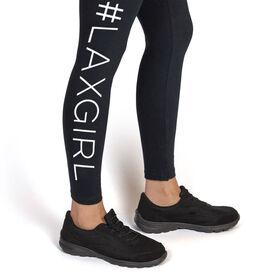 Girls Lacrosse Leggings - #LAXGIRL