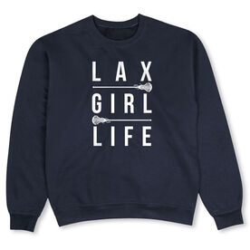 Girls Lacrosse Crew Neck Sweatshirt - LAX Girl Life