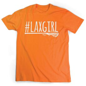 Girls Lacrosse Short Sleeve T-Shirt - #LAXGIRL