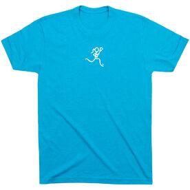 Girls Lacrosse Short Sleeve T-Shirt - Lacrosse Girl White Stick Figure