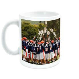 Lacrosse Coffee Mug Thanks Coach Custom Photo