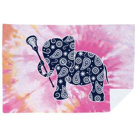 Girls Lacrosse Premium Blanket - Lax Elephant Tie-Dye