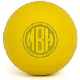 Personalized Engraved Lacrosse Ball Monogram (Yellow Ball)