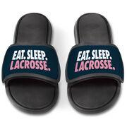 Girls Lacrosse Repwell® Slide Sandals - Eat. Sleep. Lacrosse.